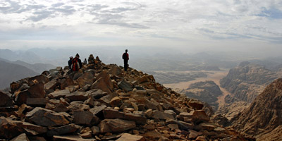 From the top of Jabel Um Adami the highest point of Jordan